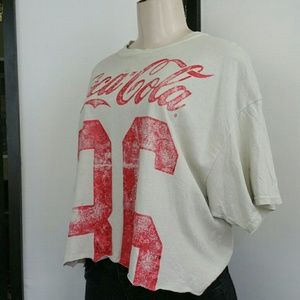 COCA-COLA TRUE VINTAGE MODEST CROP TEE SZ LRG